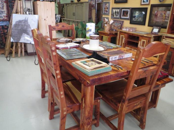 Breathtaking Red Kitchen Table Rustic Furniture